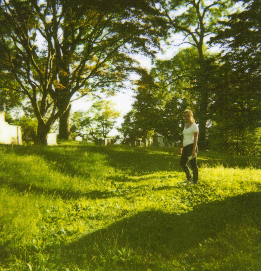 graveyard polaroid